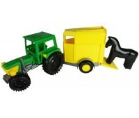 Трактор Фермер с прицепом и лошадкой, Wader