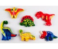 Остров динозавров, гипсовые раскраски на магнитах, Зирка