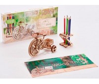 Велосипед, механический 3D-пазл, Wood Trick