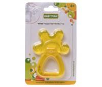 Погремушка-прорезыватель с водой, жёлтый, Baby team