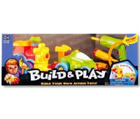 Машина и поезд, конструктор Build & Play, Keenway