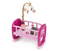 Кроватка с мобилем для пупса до 42 см, Baby Nurse, Smoby Toys