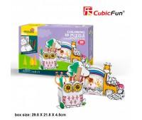 Трехмерная модель Подставка для карандашей Сова и фоторамка Жираф, CubicFun