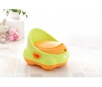 Детский горшок Изобретатель, зелёно-оранжевый, Babyhood