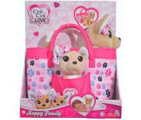 Собачки Чихуахуа, Счастливая семья, с сумочкой, Chi Chi Love