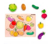 Пазл-вкладыш Овощи, Quokka