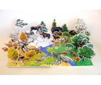 Объемное лото Осень в лесу, Умная бумага
