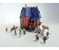 Ратуша, Сборная модель из картона, серии Средневековый город, Умная бумага