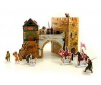 Старые ворота, Сборная модель из картона, серии Средневековый город, Умная бумага