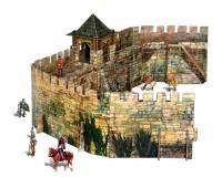 Крепостная стена, Сборная модель из картона, серии Средневековый город, Умная бумага