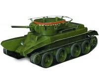 Танк колесно-гусеничный БТ-5, Сборная игровая модель из картона, серии Военная техника, Умная бумага