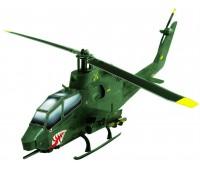 Вертолет Cobra (зеленый), Сборная игровая модель из картона, серии Военная техника, Умная бумага