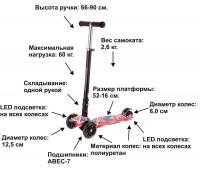 Самокат детский Hyper 2 (ABEC-7, до 12 лет/60 кг), colorful english, Bugs