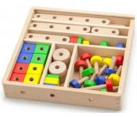 Набор строительных блоков, 53 детали, Viga Toys