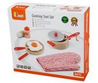 Игровой набор Маленький повар, красный, Viga Toys