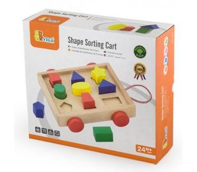 Сортер Тележка с блоками, Viga Toys