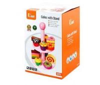 Игрушка Витрина с пирожными, Viga Toys