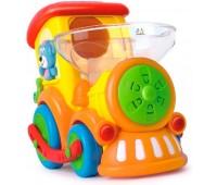 Паровозик Ту-Ту со светом и звуком, Huile Toys