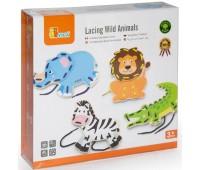 Шнуровка Дикие животные, Viga Toys