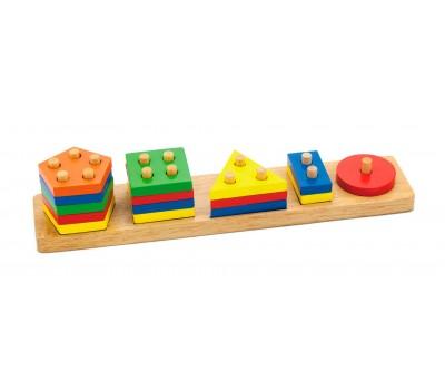 Сортер Геометрические фигуры, Viga Toys