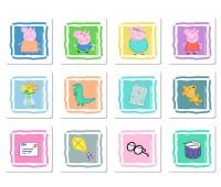 Пазл День Пеппы, 2 в 1, 30-48 элементов и 24 карточки, Trefl