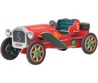 Машинка ретро (красная), сборная модель из картона, Умная бумага