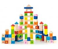 Набор кубиков Алфавит и числа, 100 шт., Viga Toys