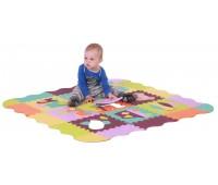 Детский коврик-пазл Быстрый транспорт,с бортиком, (25 эл.), Baby Great