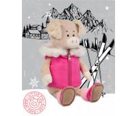 Свинка Ася в спортивной жилетке, 20 см, Maxitoys Luxury