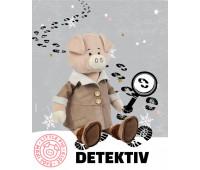 Свин Дюк в дубленке, 20 см, Maxitoys Luxury