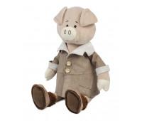 Свин Дюк в дубленке, 28 см, Maxitoys Luxury