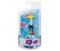 Мини-кукла Радуга Дэш (7 см), Девочки Эквестрии с нарядами, My Little Pony