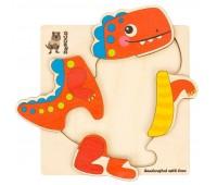 Деревянный пазл-мозаика Динозавр, Quokka