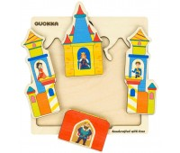 Деревянный пазл-мозаика Сказочный замок, Quokka