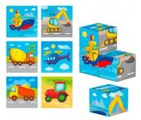 Деревянные кубики Транспорт (укр), Vladi Toys
