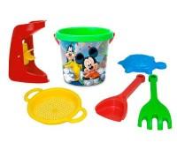 Набор для песка с термонаклейкой и мельницей Микки, 6 элементов, Disney, Wader
