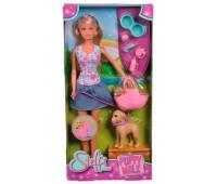 Кукла Штеффи, прогулка с питомцами, Steffi & Evi Love