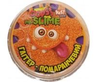 Мистер Слайм, Пластичная масса Oops! глиттер (оранжевый), 60 г, Yes Kids