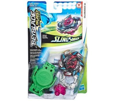 Волчок Salamander S4 с пусковым устройством, Slingshock, Starter Pack, Beyblade