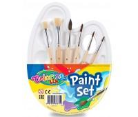 Набор палитра для рисования и 6 кистей, Colorino