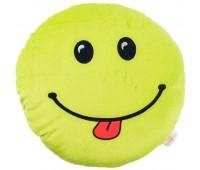 Смайлик-капризник, подушка-игрушка (салатовый), Тигрес