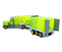 Мини-трак автотрейлер, светло-зеленый, Maximus