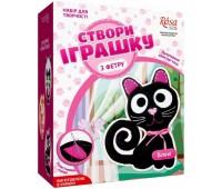 Создай игрушку из фетра Котенок Блэки, набор для творчества, Rosa Kids