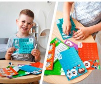 Цифры, Пиши и стирай, игра с маркером (укр), Vladi Toys
