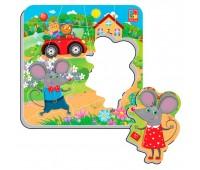 Мышата, мягкие пазлы-мозаика, настольная игра, Vladi Toys