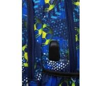 Рюкзак Strike L + USB PORT Football Blue (27 л), CoolPack