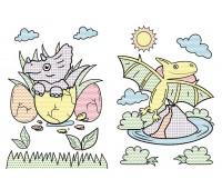 Большие водяные раскраски, Динозаврики, Кристал Бук