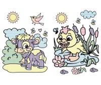Большие водяные раскраски, Малыши животных, Кристал Бук