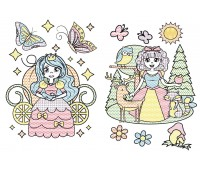 Большие водяные раскраски, Принцеси, Кристал Бук