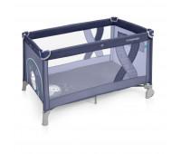 Манеж-кроватка Baby Design SIMPLE 03 BLUE